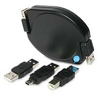 StarTech.com 6 ft Retractable USB Cable for Notebooks 1.83m Nero cavo USB