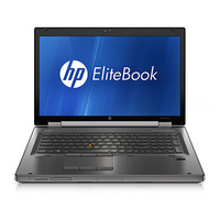 "HP EliteBook 8760w 2.6GHz i5-2540M 17.3"" 1920 x 1080Pixel Carbonella, Nero Workstation mobile"