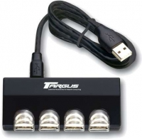 Targus Ultra Mini 4-Port USB Hub 480Mbit/s perno e concentratore