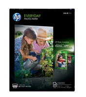HP Everyday Glossy Photo Paper-25 sht/Letter/8.5 x 11 in carta fotografica