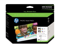 HP 95 Series Photo Value Pack-200 sht/4 x 6 in cartuccia d