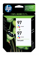 HP 97 2-pack Tri-color Ciano, Giallo cartuccia d