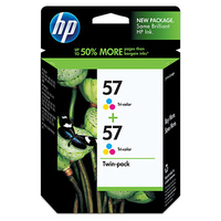 HP 57 2-pack Tri-color Ciano, Giallo cartuccia d