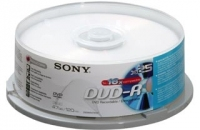 Sony DVD-R 4.7GB Spindle 25pk Bulk 4.7GB DVD-R 25pezzo(i)