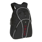 "Toshiba Backpack black + white with red Katakana logo 15.4"" Zaino Nero"