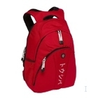 "Toshiba Backpack red with white Katakana logo 15.4"" Zaino Rosso"
