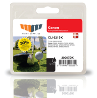 MM Black Inkjet Cartridge - Replaces Canon CLI-521BK (2933B001) - 30% Extra ink compared to OEM Nero cartuccia d