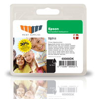 MM Black Inkjet Cartridge - Replaces Epson T0711 - 30% Extra ink compared to OEM Nero cartuccia d