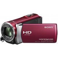 Sony Handycam HDR-CX210 Videocamera palmare 5.3MP CMOS Full HD Rosso