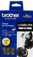Brother LC38BK2PK Nero cartuccia d