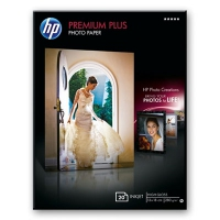 HP Premium Plus High-gloss Photo Paper-20 sht/13 x 18 cm borderless Molto lucida Bianco carta fotografica