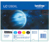 Brother LC1280XLVALBPRF Nero, Ciano, Giallo cartuccia d