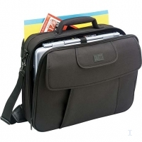 "Case Logic Black Nylon Notebook Case with File Compartment 15.4"" Nero"