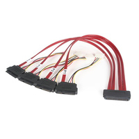 StarTech.com 50cm SFF-8484 (32 pin) to SFF-8482 (22pin) SAS Internal Cable with Power (4 pin) Rosso cavo SCSI