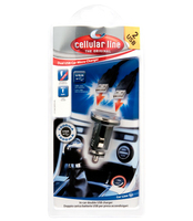 Cellularline DUAL USB CAR MICRO CHARGER Auto caricabatterie per cellulari e PDA