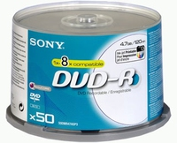 Sony DVD-R with brand new design & AccuCORE 4.7GB