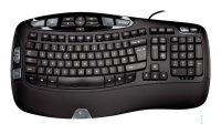 Logitech Wave Keyboard, DE USB Nero tastiera