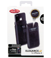 Cellularline ELEGANCE ID for iPhone 4S/4 Custodia a tasca Nero