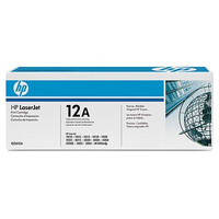 HP 12A Laser cartridge 2000pagine Nero