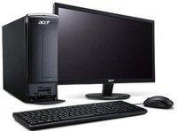 Acer Aspire 470-SR33B 2.4GHz E2-3200 Scrivania Nero PC