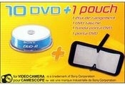 Sony DVD-R 8cm 1.4GB 10-spindle+pouch 1.4GB DVD-R 10pezzo(i)