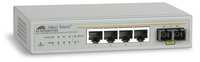 Allied Telesis 4x 10/100TX ports + 1x 100FX(SC) unmanaged FE Switch w/ External PSU, EU power adapter No gestito Bianco