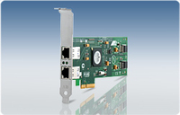 Allied Telesis PCI-Express Dual Port Copper Gigabit Interface Card scheda di interfaccia e adattatore