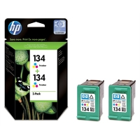 HP 134 2-pack Tri-color Ciano, Giallo cartuccia d