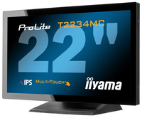 "iiyama ProLite T2234MC-B1 21.5"" 1920 x 1080Pixel Da tavolo Nero monitor touch screen"