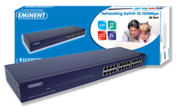 Eminent EM4418 24 Port Networking Switch 10/100Mbps No gestito Blu