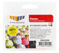 MM Black Inkjet Cartridge - Replaces Canon BCI-6BK (4705A002) - 20% Extra ink compared to OEM Nero cartuccia d