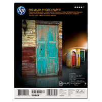 HP Premium Satin 20 sht/A2+/458 x 610 mm (18 x 24 in) Satinata Bianco carta fotografica