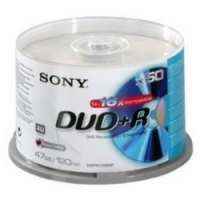 Sony DVD+R spindle 120 min X50 4.7GB DVD+R