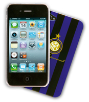 Cellularline FC Inter iPhone4/4S Cover Nero, Porpora