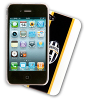 Cellularline FC Juventus iPhone 4/4S Cover Nero, Bianco, Giallo