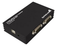StarTech.com 2 Port USB to RS232 Adapter / 2 Port USB Hub 480Mbit/s Nero perno e concentratore