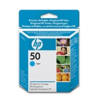 HP 50 Cyan Inkjet Print Cartridge Ciano cartuccia d