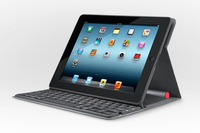 Logitech Solar Keyboard Folio Bluetooth AZERTY Nero tastiera per dispositivo mobile