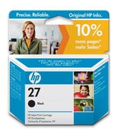 HP 27 Black Inkjet Cartridge Nero cartuccia d