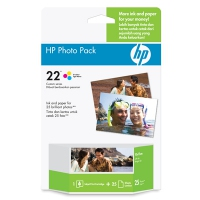 HP 22 Photo Value Pack-25 sht/4 x 6 in plus tab cartuccia d