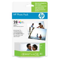 HP 28 Photo Value Pack-25 sht/4 x 6 in plus tab cartuccia d