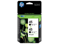 HP 45 2-pack Black Nero cartuccia d