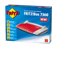 AVM FRITZ!Box 7360 A/CH Gigabit Ethernet Grigio, Rosso router wireless