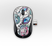 Logitech M325 Floral Foray RF Wireless Ottico Ambidestro mouse