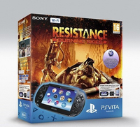 "Sony PS Vita WiFi + 4GB, Resistance: Burning Skies 5"" Touch screen Wi-Fi Nero console da gioco portatile"