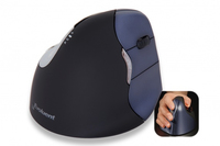 BakkerElkhuizen Evoluent4 Wireless RF Wireless Ottico Mano destra Nero, Blu mouse