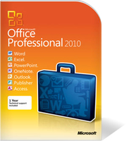 HP Microsoft Office Professional 2010, SP1, ENG Inglese