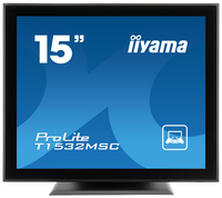 "iiyama ProLite T1532MSC-B1 15"" 1024 x 768Pixel Da tavolo Nero monitor touch screen"