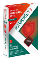 Kaspersky Lab Anti Virus 2013 Full license 1utente(i) 1anno/i Tedesca
