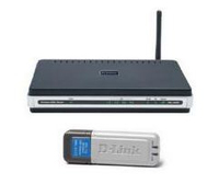 D-Link DSL-2640R + DWL-G122 Fast Ethernet Nero router wireless